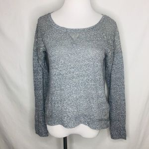 Abercrombie Fitch Heather Gray Long Sleeve Top